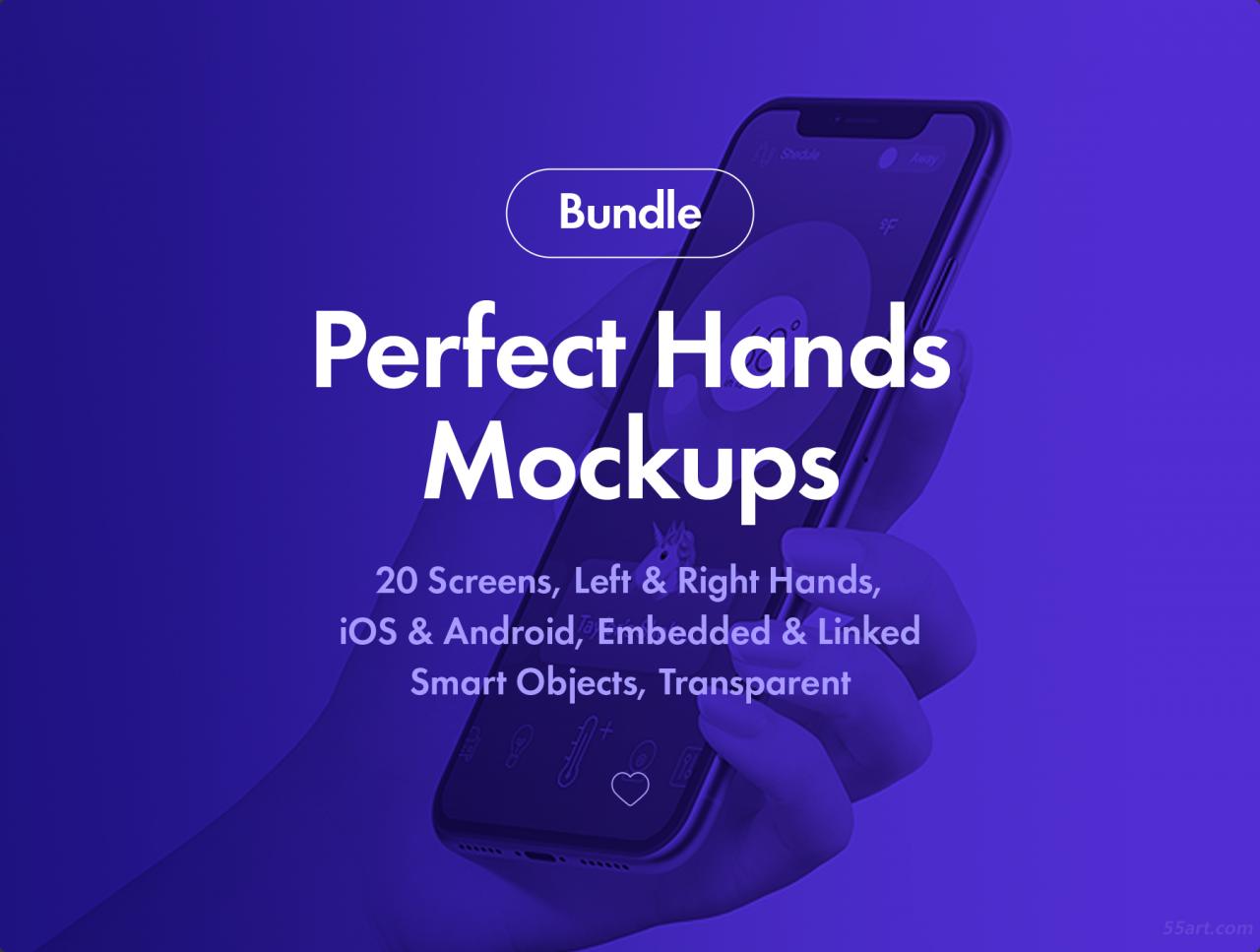 20个完美的手持多角度 iPhone X 样机套装下载[PSD,iOS]