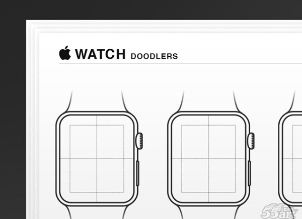 Apple Watch wireframes – AI矢量图源文件素材