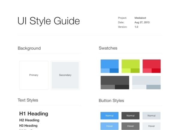 medialoot-ui-style-guide-template