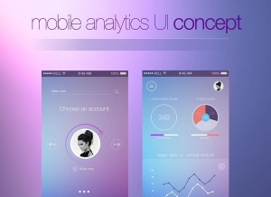 mobile-analytics-UI-concept 手机UI设计模板